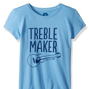 Life is Good Blue Large Treble Maker T-shirt